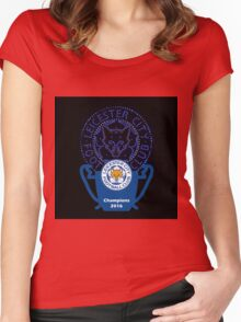 Leicester City the foxes Women's Fitted Scoop T-Shirt