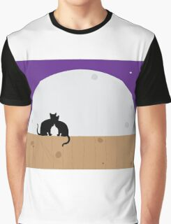 Moon cats graphic Graphic T-Shirt