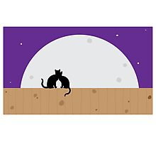 Moon cats graphic Photographic Print