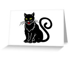 Black cat blue eyeBlack cat Greeting Card