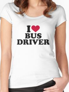 I love bus driver Women's Fitted Scoop T-Shirt