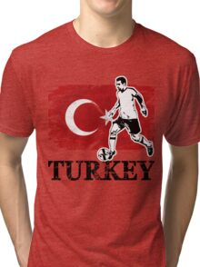 Soccer - Fußball - Turkey Flag Tri-blend T-Shirt