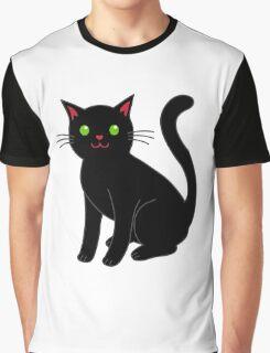 Black cat blue eyeBlack cat Graphic T-Shirt