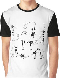 Amusing cats design set Graphic T-Shirt