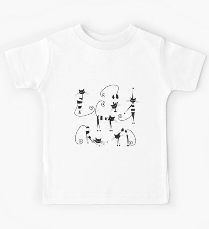 Amusing cats design set Kids Tee