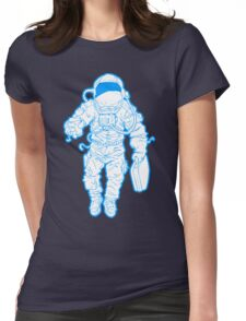 Daily Commute Astronaut Womens Fitted T-Shirt