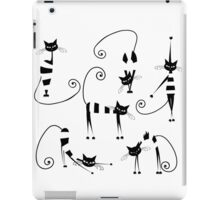 Amusing cats design set iPad Case/Skin