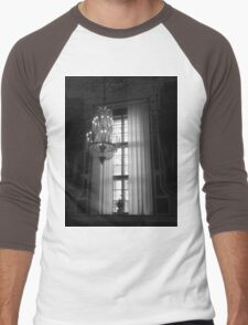 Crystal Chandelier & Window Men's Baseball ¾ T-Shirt