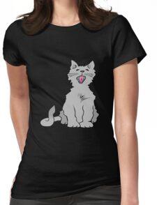 Kitten yawning Womens Fitted T-Shirt