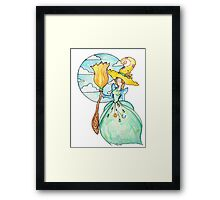 Farmer Witch - Green Witch / Fairy Godmother Framed Print