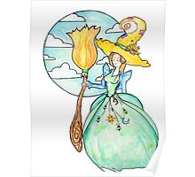 Farmer Witch - Green Witch / Fairy Godmother Poster