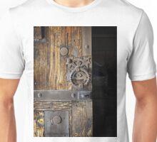 Wood Door ~ Metal Hardware Unisex T-Shirt