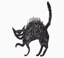 Line art painted cat Baby Tee