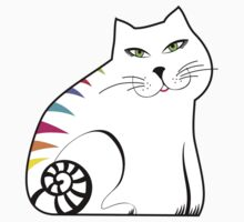 Colorful white cat Baby Tee