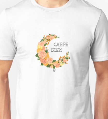 Crescent bloom   Oranges and roses Unisex T-Shirt