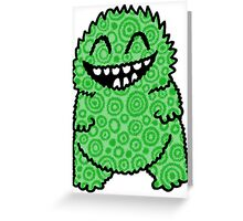 Fuzzy Bud Green Greeting Card