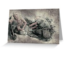 Wounded Soldier Greeting Card