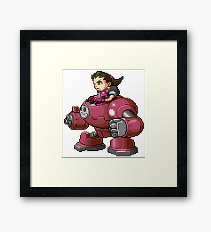 Tron Bonne - Mega Man Sprite Framed Print