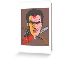 Blades And Boomsticks  Greeting Card