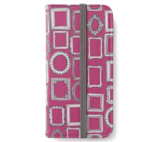 picture frames fuchsia pink iPhone Wallet/Case/Skin