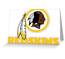 REDSKINS LOGO Greeting Card