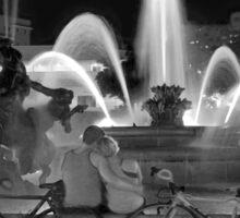 Sweethearts at the J.C. Nichols Fountain, Kansas City Sticker