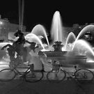 Sweethearts at the J.C. Nichols Fountain, Kansas City by Catherine Sherman