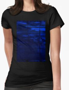 Blocks Of Blue Womens Fitted T-Shirt