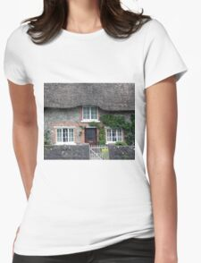 Thatched Roof House in Ireland Womens Fitted T-Shirt