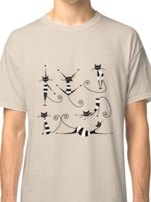 Amusing black cat design Classic T-Shirt
