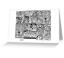Kid soldier and the Military troop cats #219 Action Pages Heavy Machine gun Punch on Green Battle Greeting Card