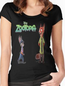 Zootopia Nick & Judy Women's Fitted Scoop T-Shirt