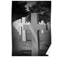 American Cemetery - Remember D Day June 6, 1944 Poster