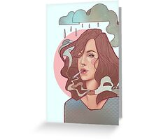 Trippin' on skies Greeting Card