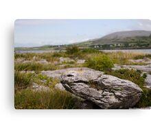 Burren Rock on Galway Bay Canvas Print