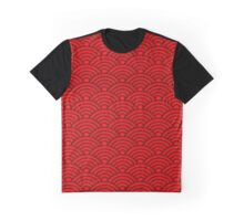 Red Seikaiha Graphic T-Shirt