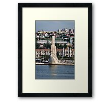 The Discoveries Monument  Framed Print