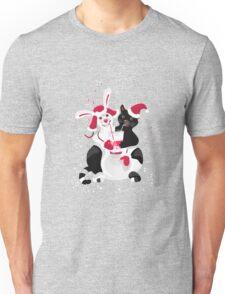Christmas cartoon cat clip art Unisex T-Shirt