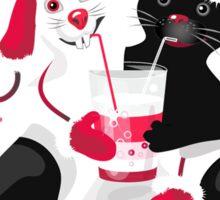 Christmas cartoon cat clip art Sticker