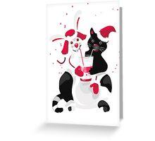 Christmas cartoon cat clip art Greeting Card