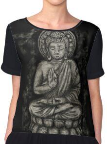 Zen Silver, Buddha 1 Chiffon Top