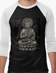 Zen Silver, Buddha 1 Men's Baseball ¾ T-Shirt