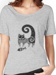 Funny floral pattern cats Women's Relaxed Fit T-Shirt