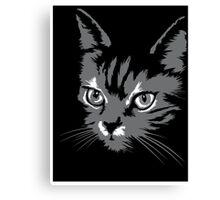Black cat cartoon silhouetteCat silhouette cat silhouette Canvas Print