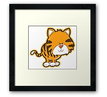 Cute baby tiger Framed Print