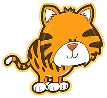Cute baby tiger Photographic Print