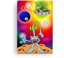 Alien Cartoon Canvas Print