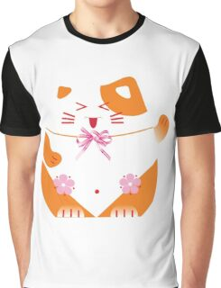 Fat cat sitting art Graphic T-Shirt
