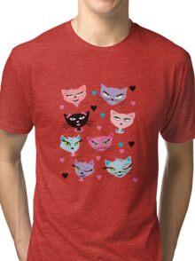 Cute cartoon cats card Tri-blend T-Shirt