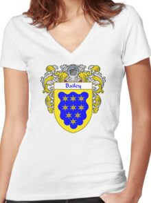 Bailey Coat of Arms/Family Crest Women's Fitted V-Neck T-Shirt